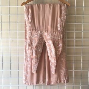 Honey Punch Pants - Blush Pink Embroidered Nasty Gal Jumpsuit